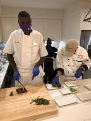 Chef Dee Carving and Plating