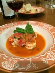 Gulf Shrimp with Tomatoes and Basil