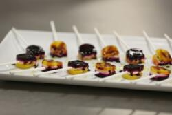 Roasted Beet Lolli Pops with Balsamic Reduction