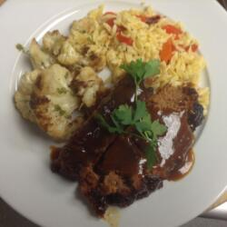 Andy's Meatloaf w/ Braised Cauliflower & Orzo Pasta