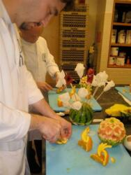 Garnishing Class at the SDS Culinary Institute