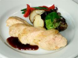 Roast Turkey with Raspberry Reduction