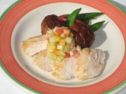 Roast Turkey with Melon Salsa